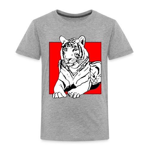 Red Cube Tiger T-Shirt - Kinder Premium T-Shirt
