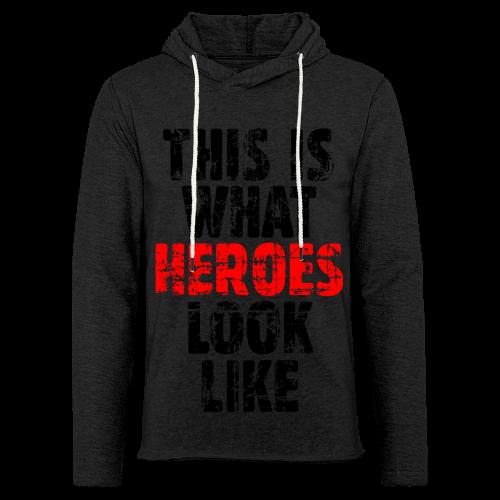 Hero T-Shirt S-5XL (Schwarz/Rot) Vintage - Leichtes Kapuzensweatshirt Unisex