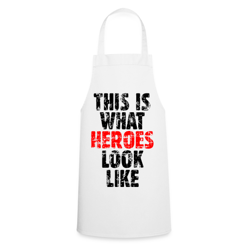 Hero T-Shirt S-5XL (Schwarz/Rot) Vintage - Kochschürze