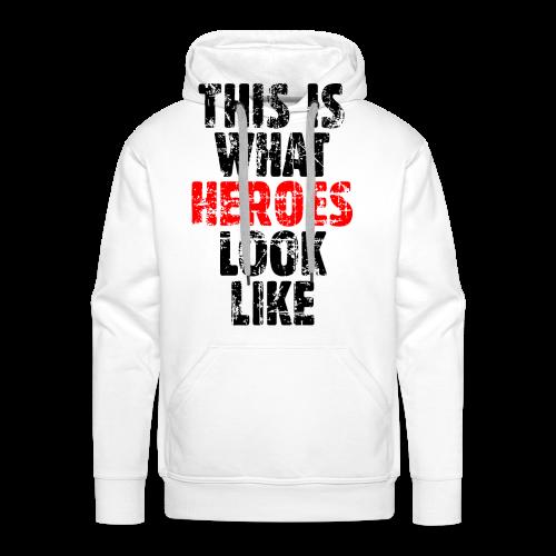 Hero T-Shirt S-5XL (Schwarz/Rot) Vintage - Männer Premium Hoodie