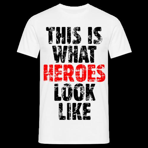 Hero T-Shirt S-5XL (Schwarz/Rot) Vintage - Männer T-Shirt