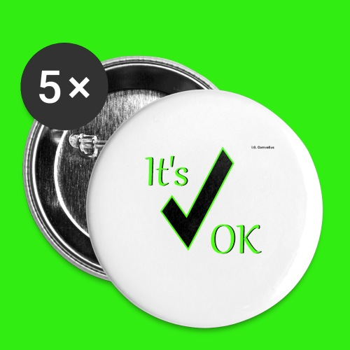 It's ok - Buttons klein 25 mm