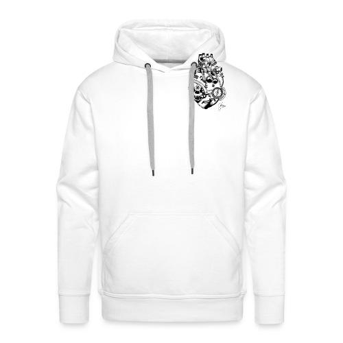 Man T-shirt II - Technological heart - - Männer Premium Hoodie
