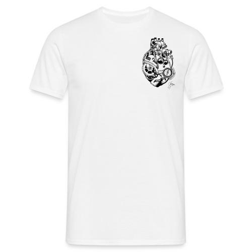 Man T-shirt II - Technological heart - - Männer T-Shirt