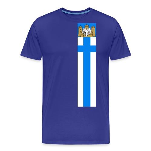 Viirii edullisempi malli - Miesten premium t-paita