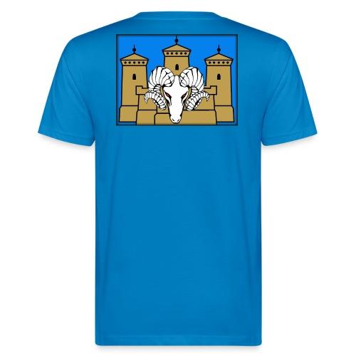 Selkäpainatus premiun aatu - Miesten luonnonmukainen t-paita