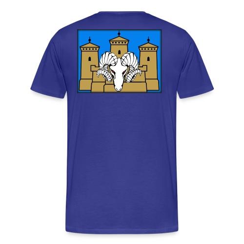 Selkäpainatus premiun aatu - Miesten premium t-paita