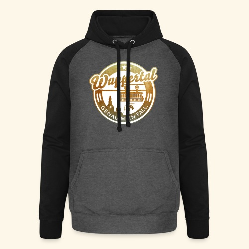 spassprediger.de presents: Wuppertal, distressed - Unisex Baseball Hoodie