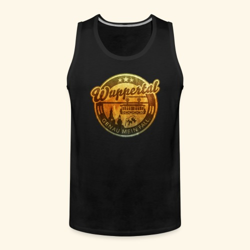 spassprediger.de presents: Wuppertal, distressed - Männer Premium Tank Top