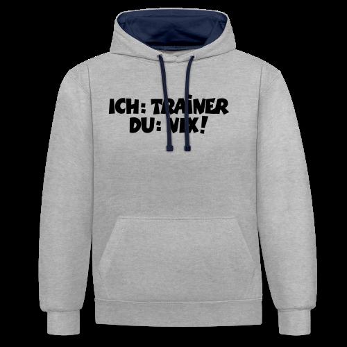 Trainer T-Shirt (Schwarz) - Kontrast-Hoodie