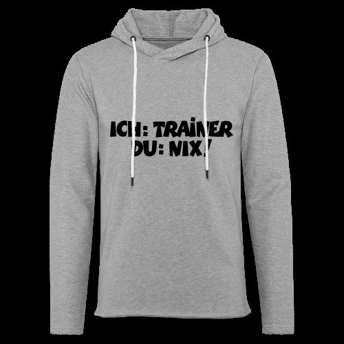 Trainer T-Shirt (Schwarz) - Leichtes Kapuzensweatshirt Unisex