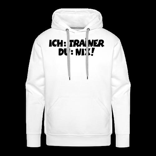 Trainer T-Shirt (Schwarz) - Männer Premium Hoodie