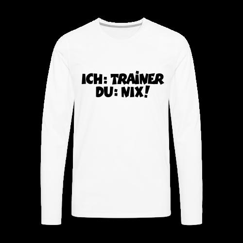 Trainer T-Shirt (Schwarz) - Männer Premium Langarmshirt