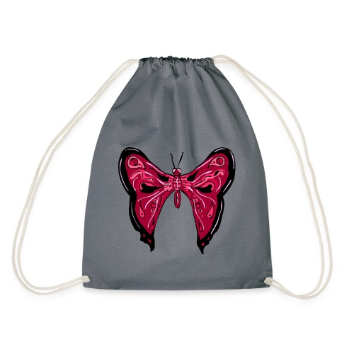 papillon rose - Sac de sport léger