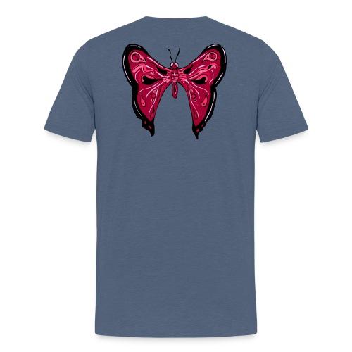papillon rose - T-shirt Premium Homme
