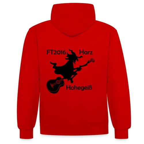 FT2016 T-Shirt Bio - Aufdruck navy, groß (Flock) - Kontrast-Hoodie