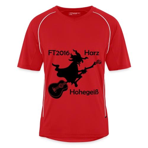 FT2016 T-Shirt Bio - Aufdruck navy, groß (Flock) - Männer Fußball-Trikot
