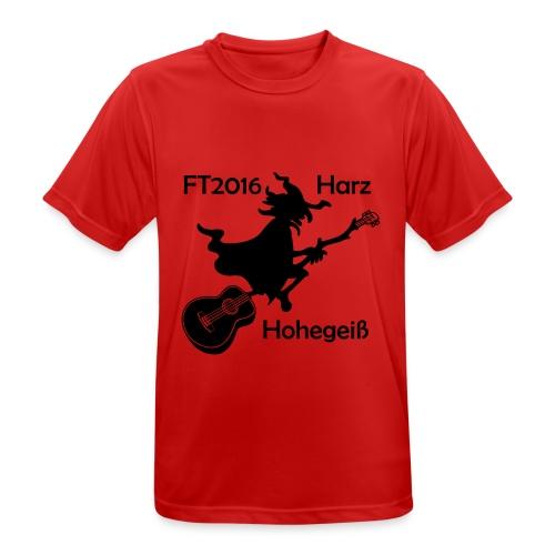 FT2016 T-Shirt Bio - Aufdruck navy, groß (Flock) - Männer T-Shirt atmungsaktiv