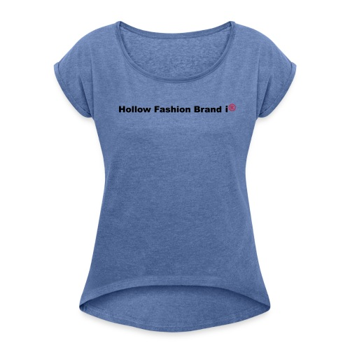 Tank Top - Women's T-Shirt with rolled up sleeves