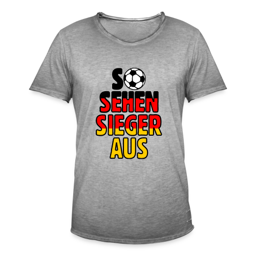 Fußball Deutschland Fan T-Shirt - Männer Vintage T-Shirt
