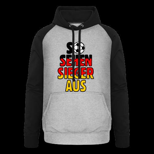 Fußball Deutschland Fan T-Shirt - Unisex Baseball Hoodie