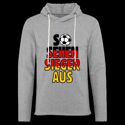 Fußball Deutschland Fan T-Shirt - Leichtes Kapuzensweatshirt Unisex