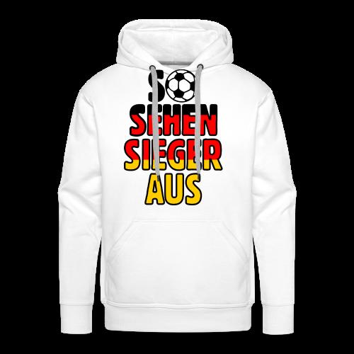 Fußball Deutschland Fan T-Shirt - Männer Premium Hoodie