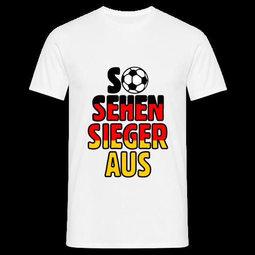 Fußball Deutschland Fan T-Shirt - Männer T-Shirt