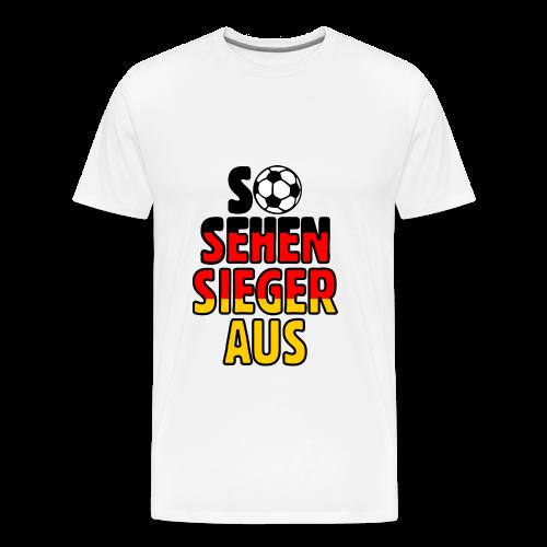 Fußball Deutschland Fan T-Shirt - Männer Premium T-Shirt