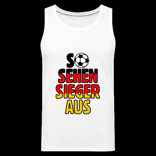 Fußball Deutschland Fan T-Shirt - Männer Premium Tank Top