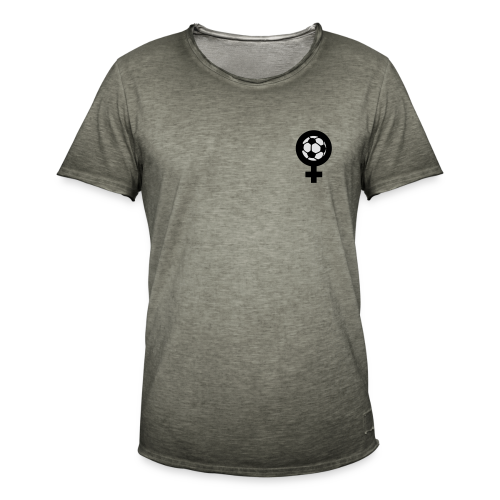 Frauenfußball Spaghetti Top - Männer Vintage T-Shirt
