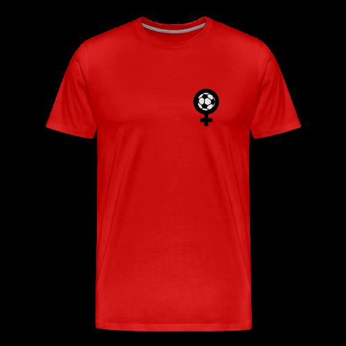 Frauenfußball Spaghetti Top - Männer Premium T-Shirt