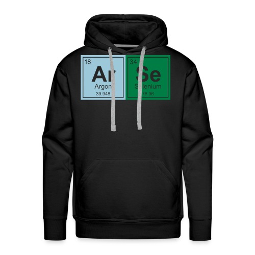 Geeky ARSE Periodic Elements - Men's Premium Hoodie