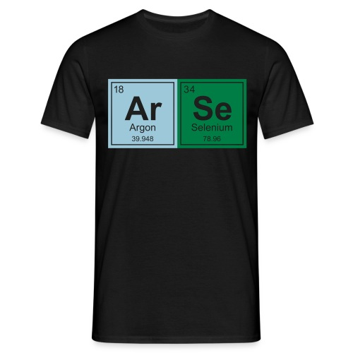 Geeky ARSE Periodic Elements - Men's T-Shirt