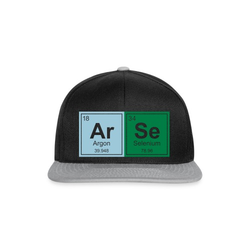 Geeky ARSE Periodic Elements - Snapback Cap