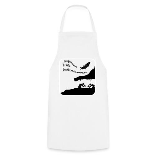 Springschwanz Wortspiel Weiß - Kochschürze