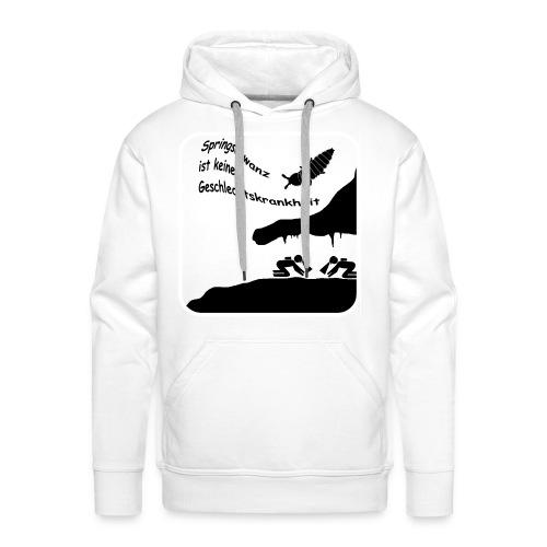 Springschwanz Wortspiel Weiß - Männer Premium Hoodie