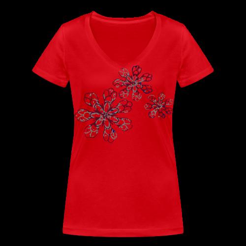 Yellow flower - T-shirt bio col V Stanley & Stella Femme