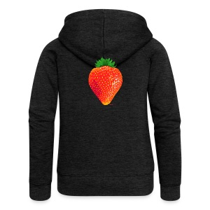 Strawberry - Frauen Premium Kapuzenjacke