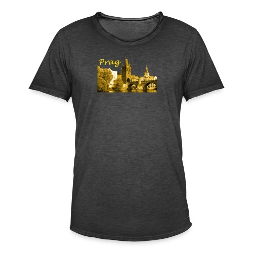 Prag die  Goldene Stadt - Männer Vintage T-Shirt