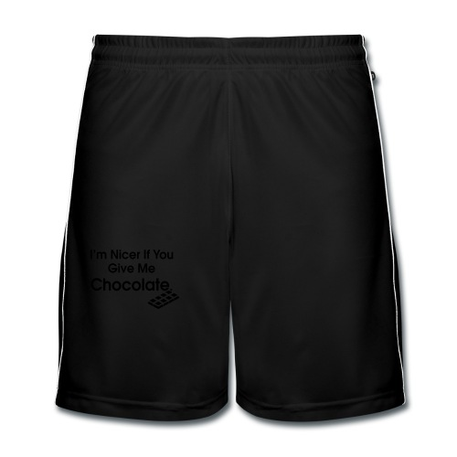 Nicer if you Give Me Chocolate. Ladies T - Men's Football shorts