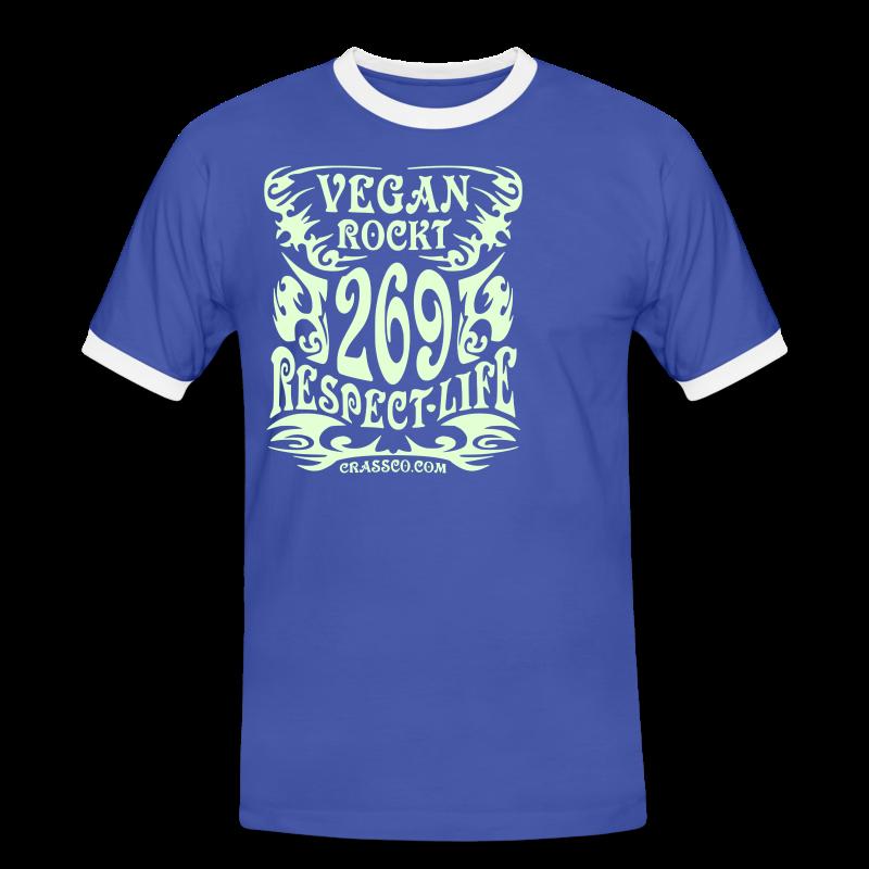 VEGAN RESPECT LIFE (reflektierend) - Männer Kontrast-T-Shirt