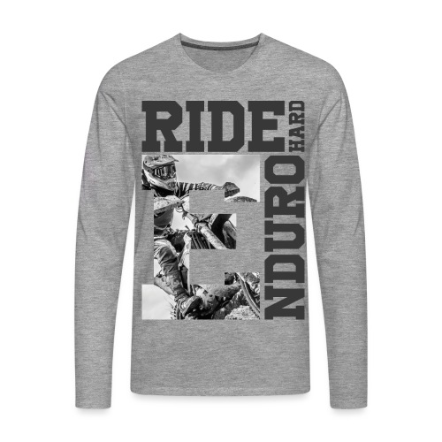 Hard Enduro Rider - Männer Premium Langarmshirt