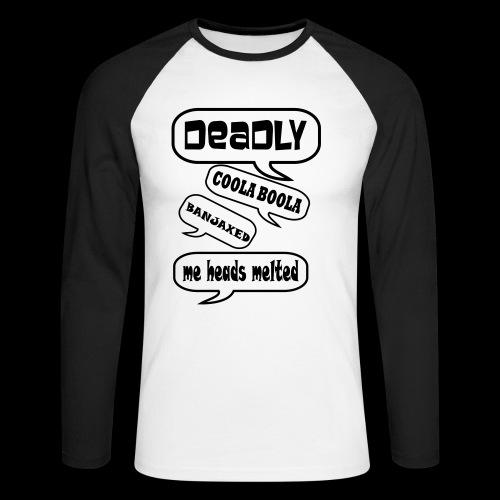 Deadly Dublin - Men's Long Sleeve Baseball T-Shirt