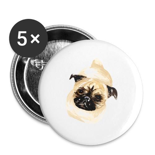 Mops - Stoffbeutel - Buttons klein 25 mm