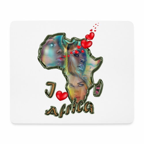 I love Africa - Mouse Pad (horizontal)