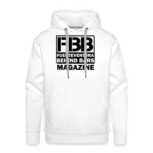 FBB LOGO MEN'S T-SHIRT (WHITE) - BLUE PRINT - Men's Premium Hoodie