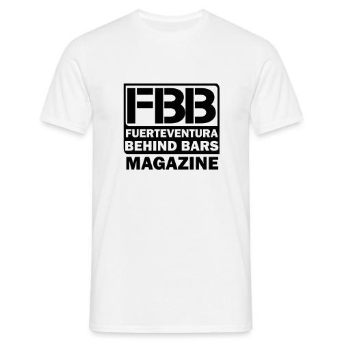 FBB LOGO MEN'S T-SHIRT (WHITE) - BLUE PRINT - Men's T-Shirt