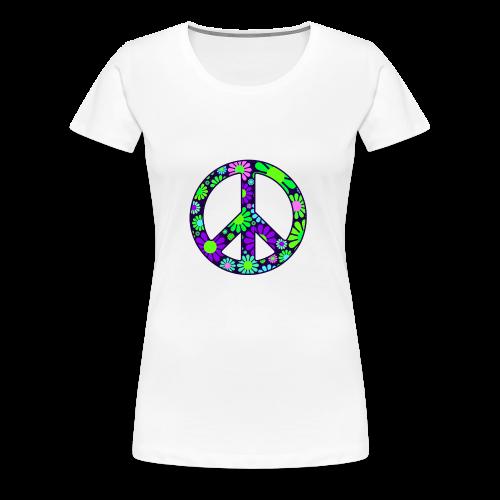 Peace Symbol Womens - Women's Premium T-Shirt