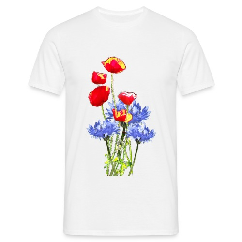 Kornblumen- Mohn- Collage - Männer T-Shirt